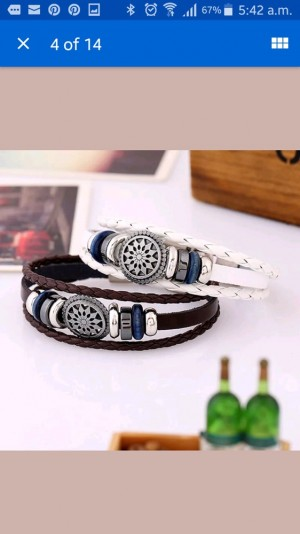 Fashion leather Men and women Bracelet