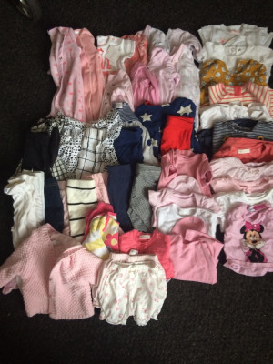 Baby girls 32 item clothes bundle newborn and up to 1 month