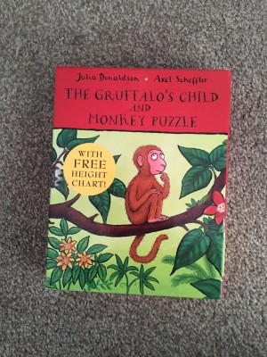 Gruffalos child and monkey puzzle book set