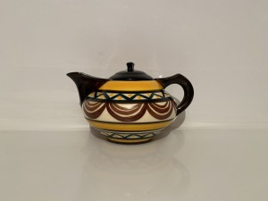 Vintage French Art Pottery Ceramic Teapot Kettle Hand Decorated Gifts