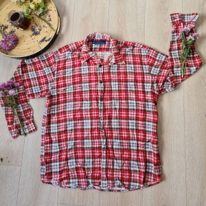 checkered vintage flannel shirt