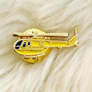 Cute Yellow Helicopter Bird Swag Style Badges Funky Pin Brooch Metal E