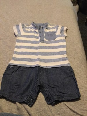 Baby Boys All-In-One Outfit - Aged 3-6 Months