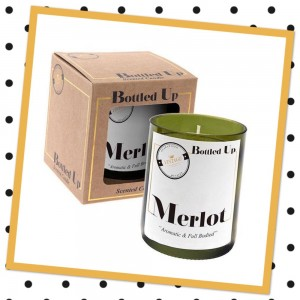 Melot Bottle Candle