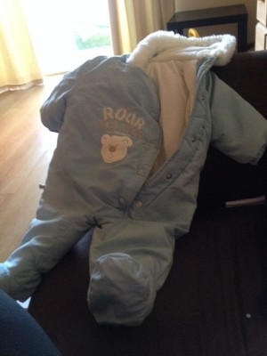 baby snowsuit 3-6 months old