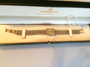 ladies full 9ct gold sovereign watch