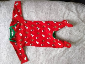 Christmas baby sleepsuit - newborn