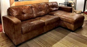 Leather Sofa Natural Rustic Style From DFS