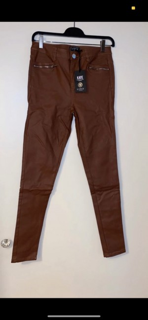 Lipsy leather brown trousers