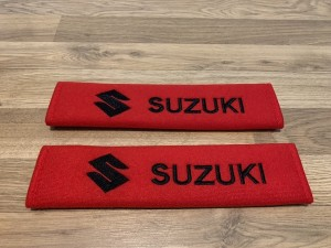 2X Seat Belt Pads Cotton Red Gifts Suzuki Alto Baleno Celerio Grand Vi