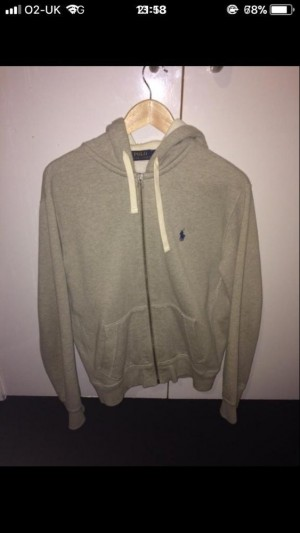 Medium Grey Ralph Lauren zipper