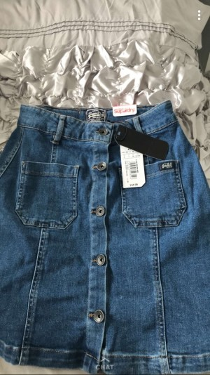 Superdry denim skirt-NO REFUNDS-POSTAGE DEPENDS WHERE YOU ARE
