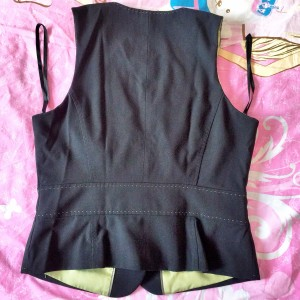 SALES OFF - £13 - NEXT BRAND - WOMENS LADIES SLEEVELESS WAISTCOAT - COTTON OUTSIDE AND SILK INSIDE - GO WITH A BLACK TIE - SIZE 14 - BLACK - FREESHIP