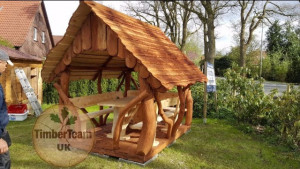 Wooden unique handmade gazebo
