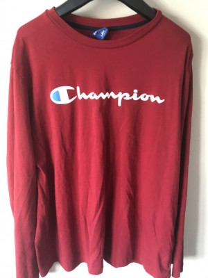 Red Champion long sleeved top