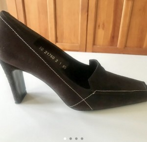 Women's brown suede RAVEL heeled shoes