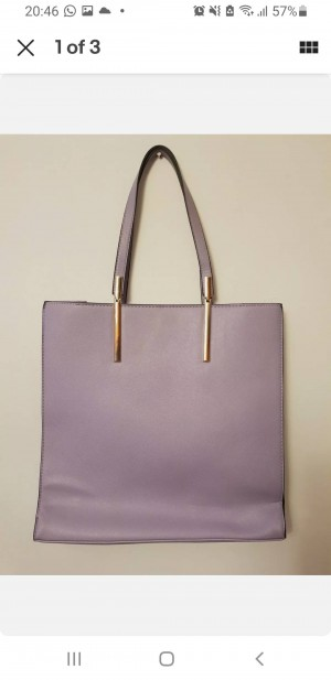 purple large bag new look gold detail