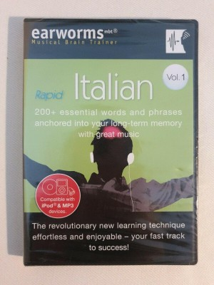 Earworms Revolutionary Rapid Italian Vol1 with Free Phrase Book Sealed