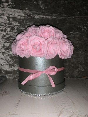 Pink Flower Hat Box