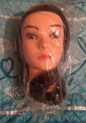Sophie hairdressing head, clamp and Curlformers softhood