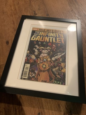 Infinity galaxy comic with frame
