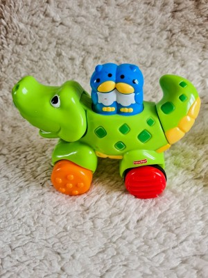 Fisher Price Push Along Moving Crocodile Baby Toy