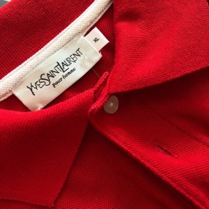 Vintage red ysl polo