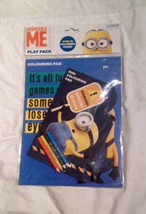 Despicable Me Minions Play Pack. 2 Colouring Pads & 4 Pencils. New In Packet.