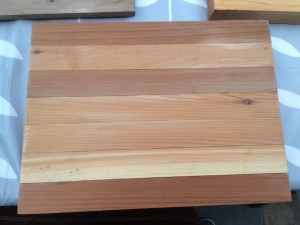 Cedar reclaimed chopping board