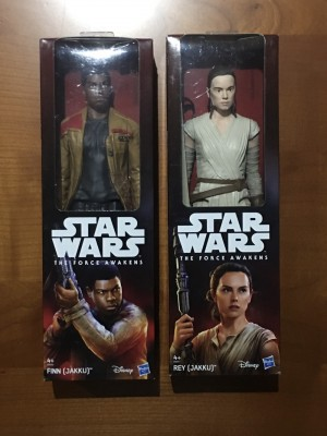 "Star Wars The Force Awakens REY & FINN 12"" Inch Action Figure"