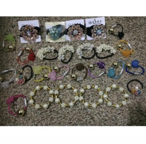 Hair bobbles and braclets