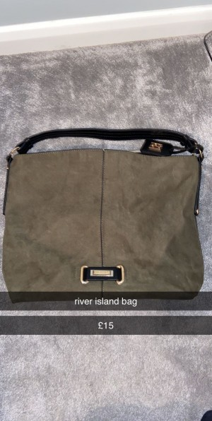 river island bag camouflage green one size