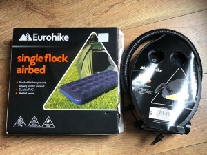 Single flock air bed - brand Eurohike