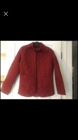 Beautiful Red Quilted Jacket Size 8 Smart Preppy