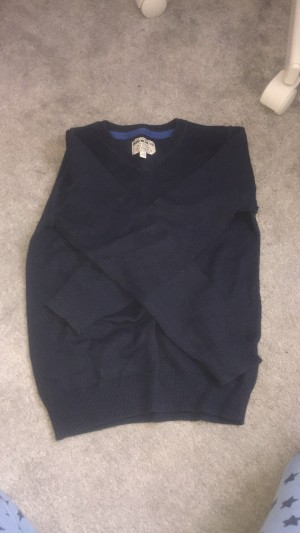 Boys navy blue jumper