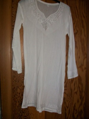 NEW White Embroidered Tunic