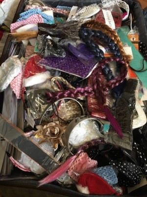 Job lot of hair accessories hair bands hair clips belts hair brushes etc: make me a reasonable offer