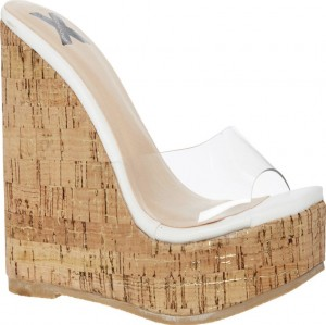 High heel Perspex wedge