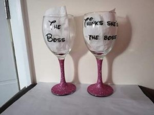 The Boss His and Hers Glasses set