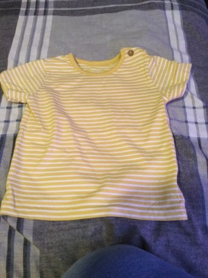 Baby Boys Striped T-Shirt - Aged 3-6 Months