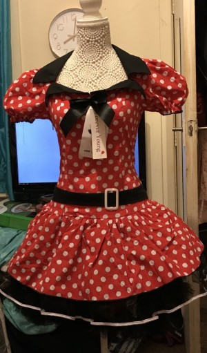 Minnie Mouse Fancy Dress Outfit BNWT Size M