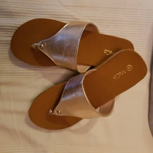 M&Co Silver Slip On Flats New Size 7