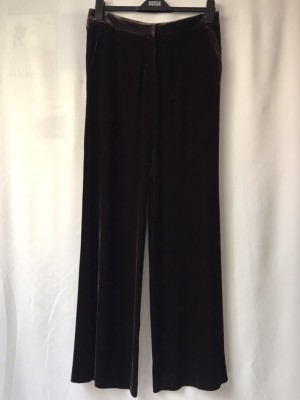 Stunning Marks&Spencer Silk blind Velvet Wide Leg Trouser
