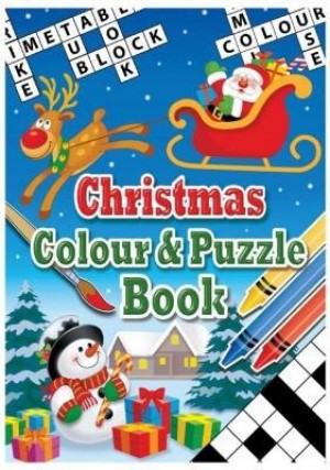 Christmas Colouring Book and Crayons