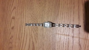 """ladies """"fossil"""" silver watch"""