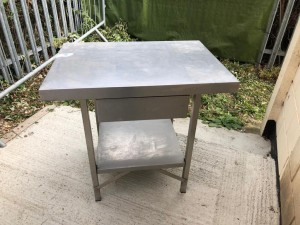 Stainless Steel Table with Drawer and Undershelf (900 x 650 x 900mm hi