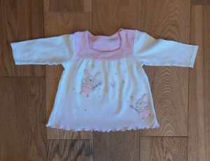 Bunny top - ages 3-6 months