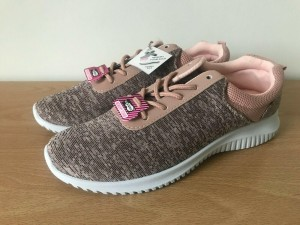 NEW 'Go Stroll' Pale Pink Memory Foam Trainers - Size 7 (small)