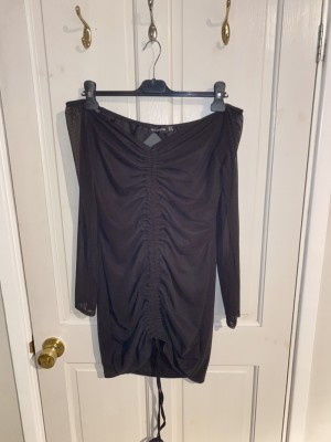 PLT black off the shirt shirt dress UK 18