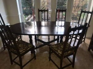 Large Vintage Extendable Ercol Table and 6 Chairs